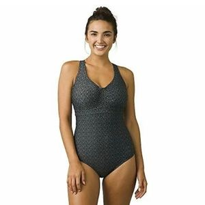 prAna Aelyn One Piece Swimsuit Charcoal Grey 34D S
